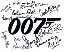 James Bond Cast Autograph Signed Photo